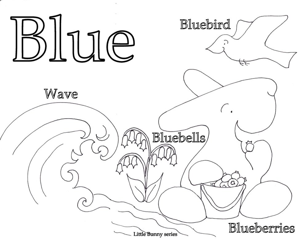 Blue Coloring Page PDF