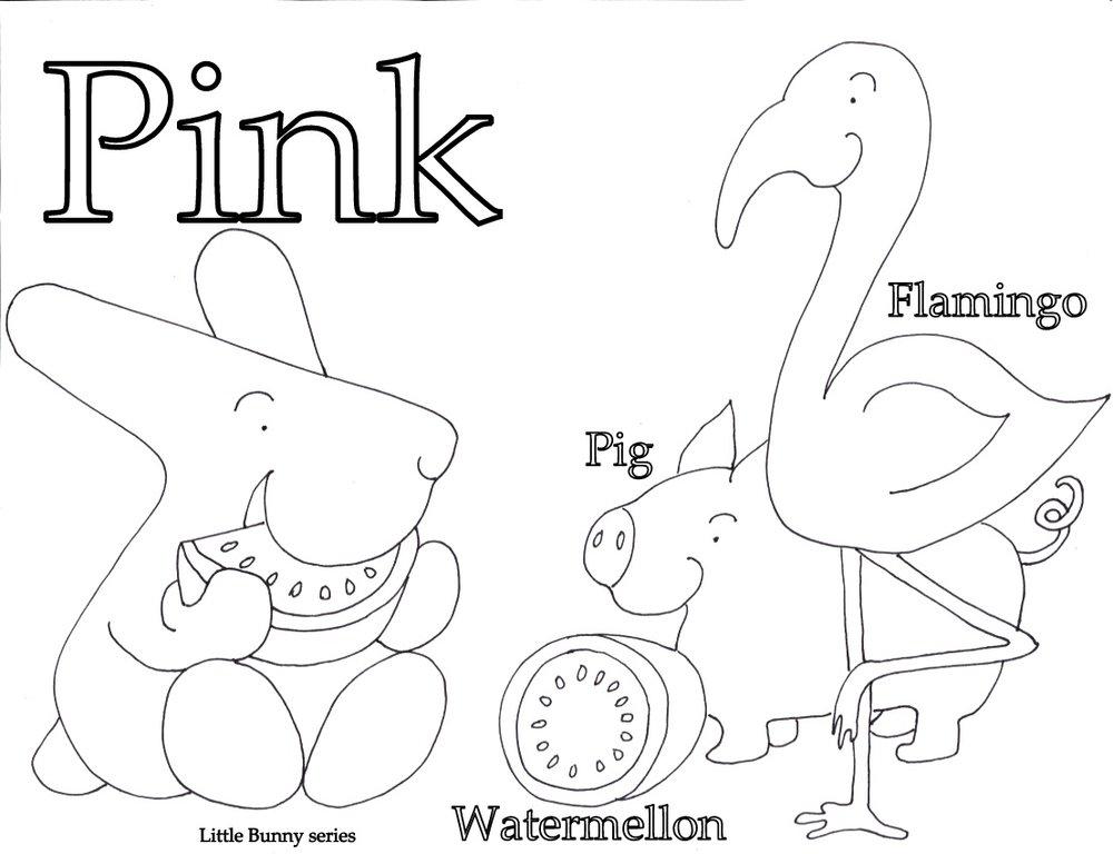 Pink Coloring Page PDF