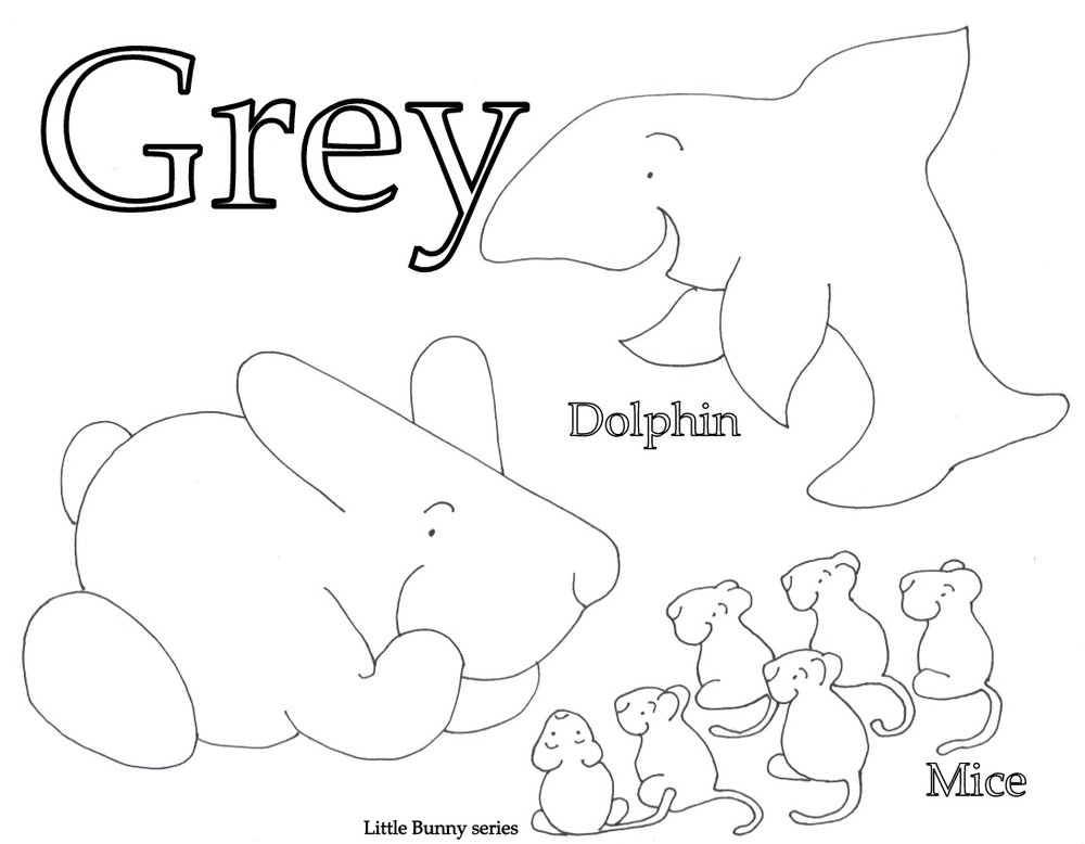 Grey Coloring Page PDF