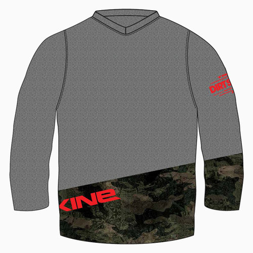 Dakine Unisex 3 4 Jersey (Carbon Camo) — Trek Dirt Series Mountain ... 482c2a1f7