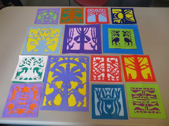 Group display of papercuts