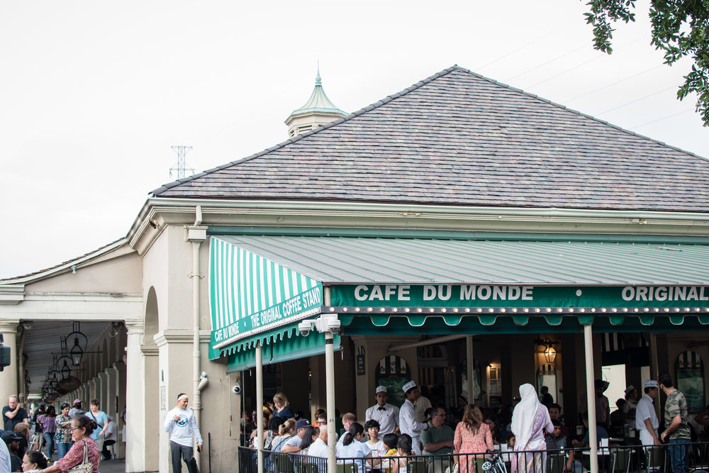 Cafe Du Monde...your coffee is delightful, and your beignets are delicious!