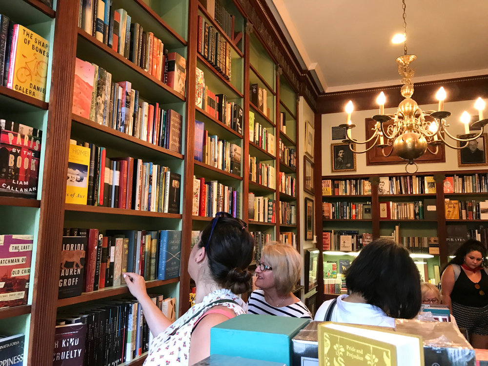 Faulkner House Books in Pirates' Alley. This perfect in every way bookstore, is considered a National Literary Landmark and it's also a historic location in the city.