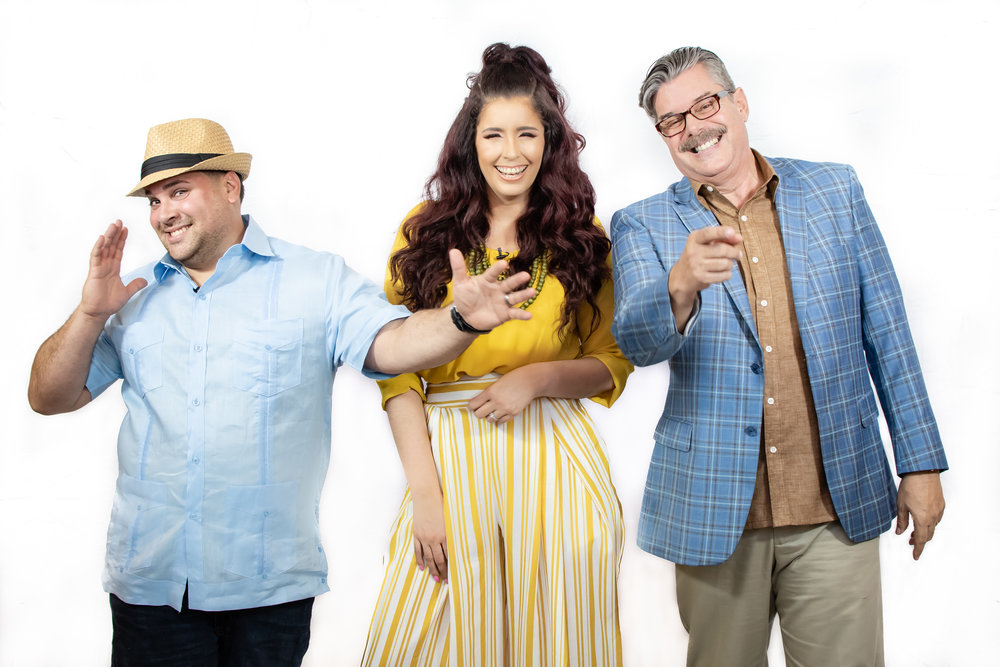 THE HOSTS: Eishamarie Rivera, Roberto Vigoreaux & Chef Alex Gandia