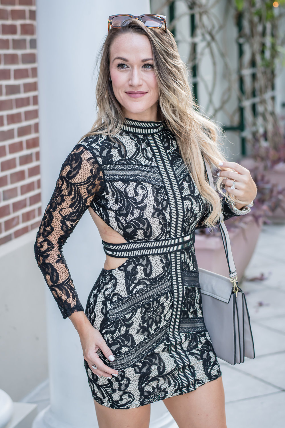 black lace cocktail dress by save the dress