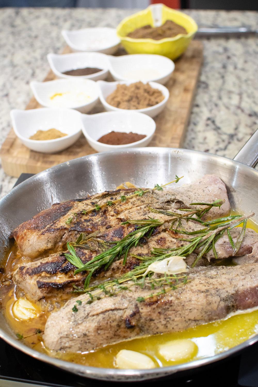 Pork Tenderloin recipe by Chef Alex Gandia. Food photography by Yanitza Ninett Photography
