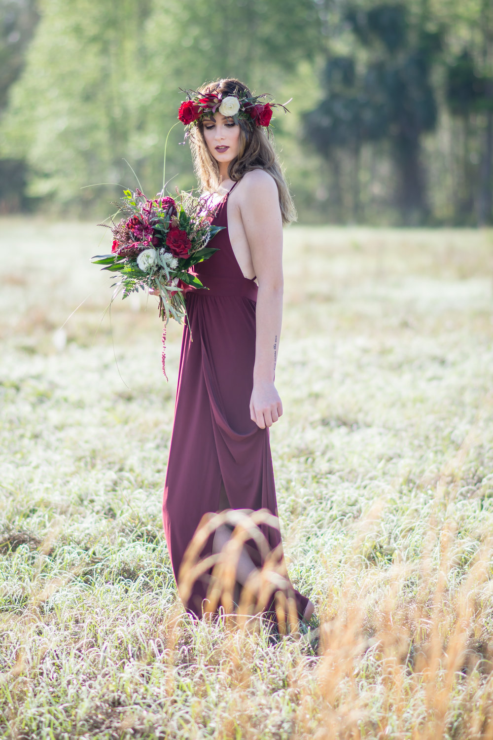 Shot in natural light with an 85mm lens. This session was featured in Magazines and Premier Wedding Blogs! Find the links to the features in this  post .