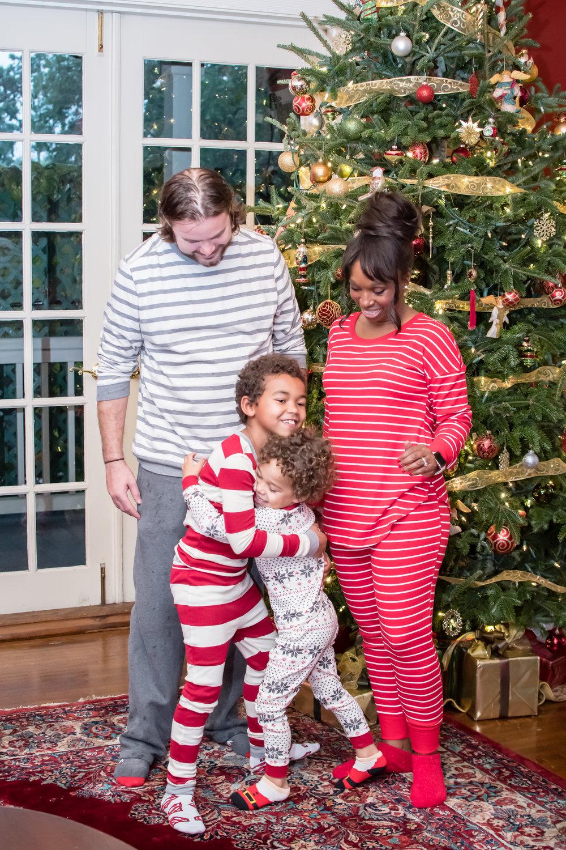 Christmas photos in pajamas Orlando Photographer Yanitza Ninett