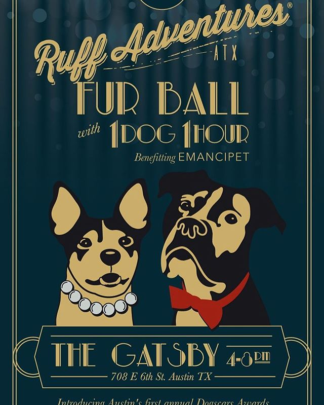 Austin friends, TODAY IS THE DAY! Join us at #FurBallATX 4-8pm for the 1st annual #Dogscars Awards + to raise funds for low-cost veterinary services &  spay/neuter at @emancipet while celebrating Austin as the Rescue Dog Capital of the World(TM). Many of Austin's families and rescues rely on Emancipet's discounted services to keep dogs in good homes + keep adoption fees (and animal  overpopulation) low. Tickets are still available at the door & at http://FurBallATX.eventbrite.com