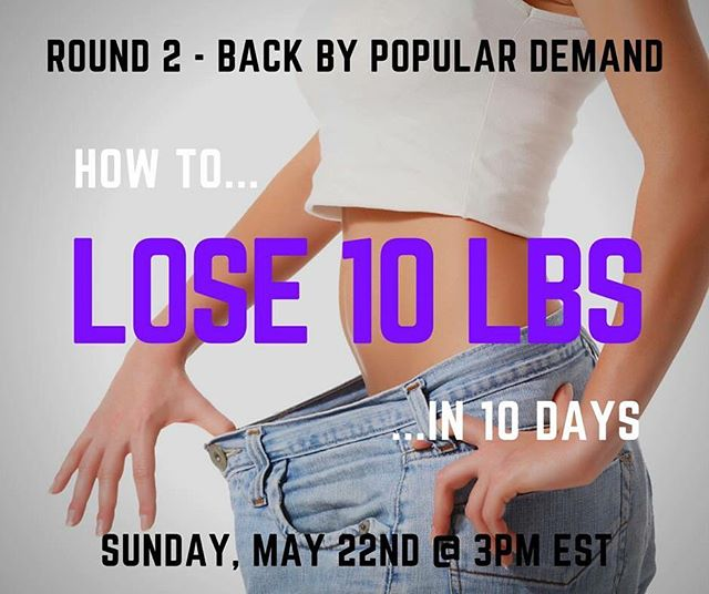 It's BACK by POPULAR DEMAND! Round 2 of How To Lose 10 lbs in 10 Days -- Today at 3:00p EST.  www.GetHealthyWithJim.co ---  link in bio  I got such great feedback from everyone who watched and people asking for the replay who weren't able to attend that I decided to do an ENCORE webinar Today, May 22nd at 3:00pm EST.  Register here:  www.GetHealthyWithJim.com ---  link in bio