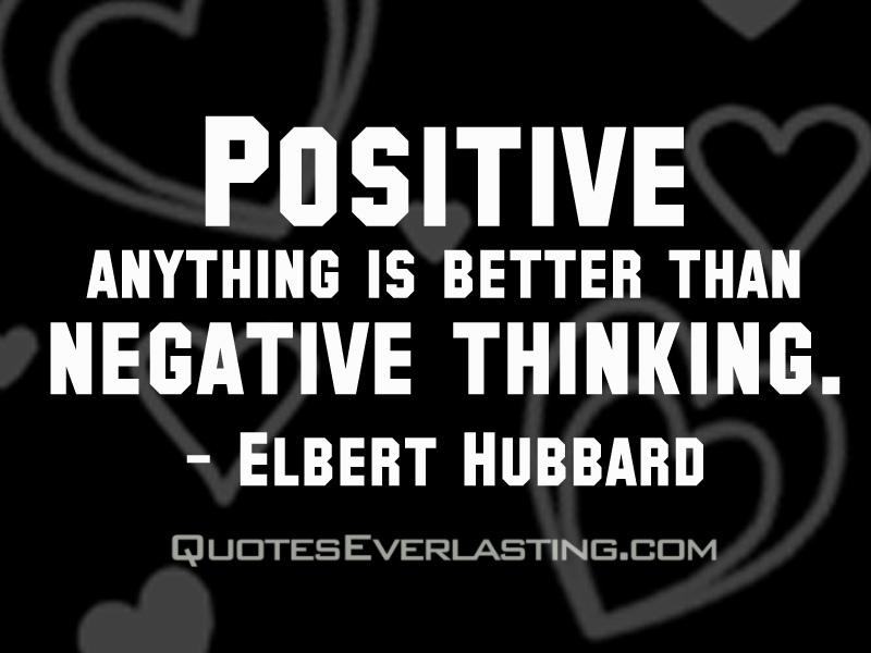 positive negative thinking