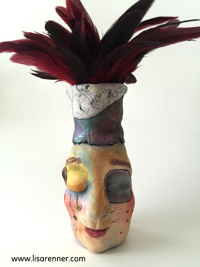 Jug Heads- featured on Polymer Clay Daily April 2017