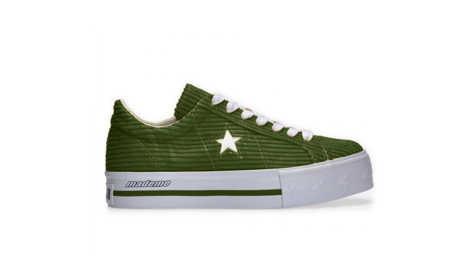 Converse x MadeMe One Star Platform (Green), £90 at    Dover Street Market