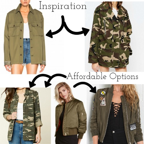 Inspiration 1 & 2 Source  Affordable Pieces Sources | Left | Middle  | Right