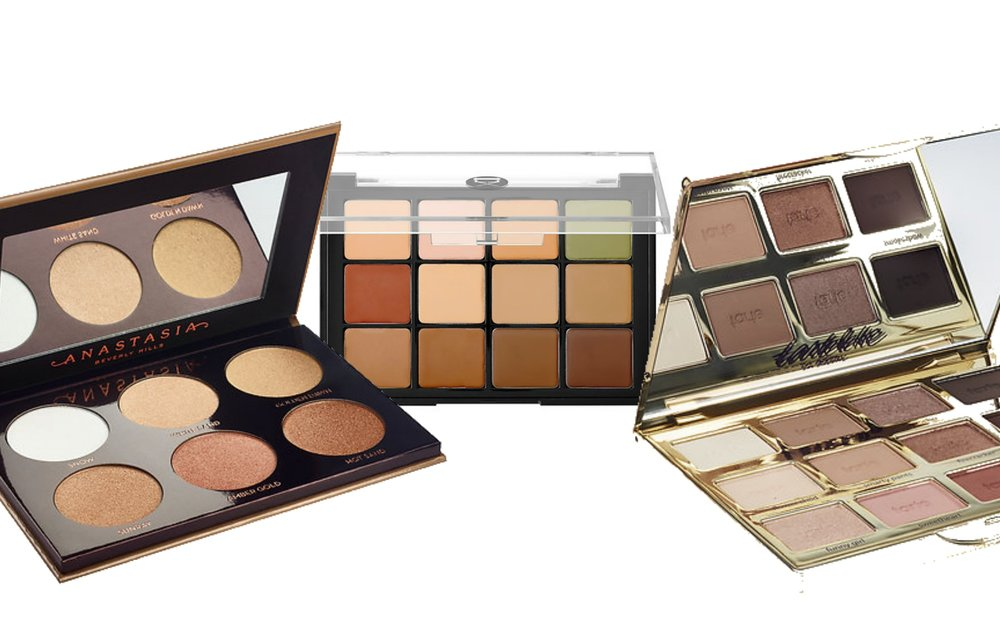 Left Glow Kit  Link        Middle Contour Kit  Link        Right Eye shadow kit  Link