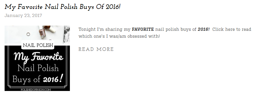 Polish Buys made the cut! Click for more!