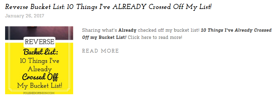 Reverse Bucket List listed on the round up! Click here fore more!