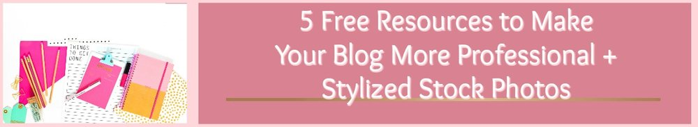 Want to make your blog more professional? Need FREE resources to get the job done? Click here to get 5 free resources to make your blog MORE professional + a list of the best stylized photo's out there!