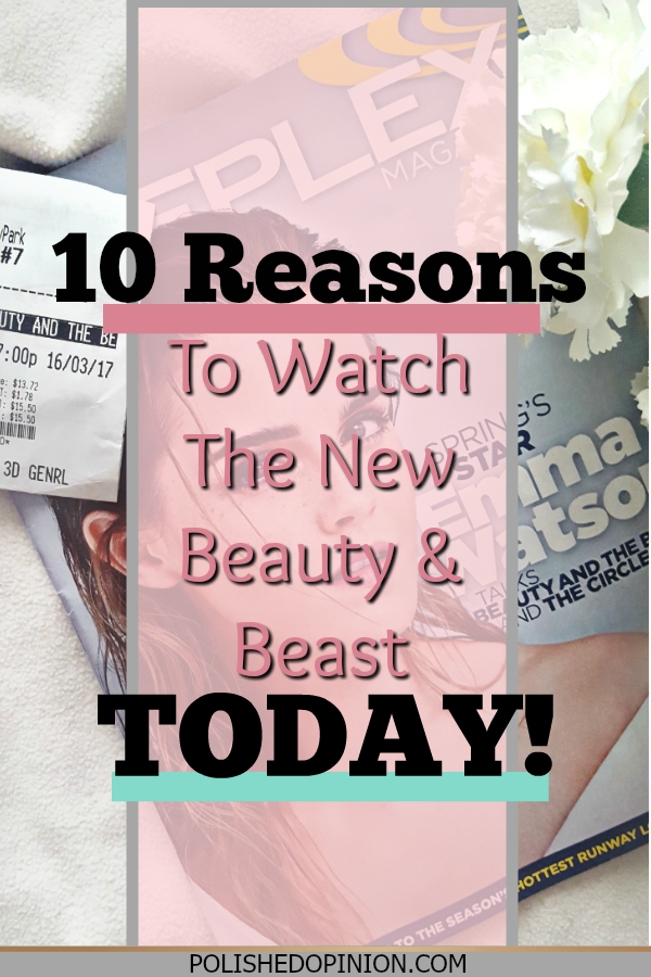 So excited to share 10 Reasons to Watch the New Beauty & The Beast Movie Today! Complete with NO SPOILERS! I can't imagine why you WOULDN'T watch! Click for more!