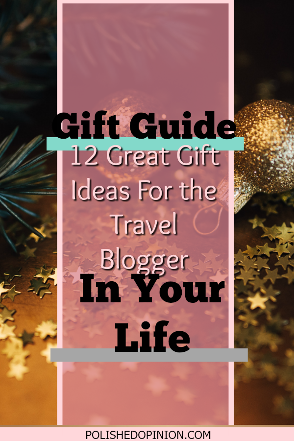"Today I bring to you another Gift Guide! This one is for those fabulous travel bloggers out there! Click to read ""12 Great Gift Ideas for the Travel Blogger in your life! AND Get some free wallpapers!"