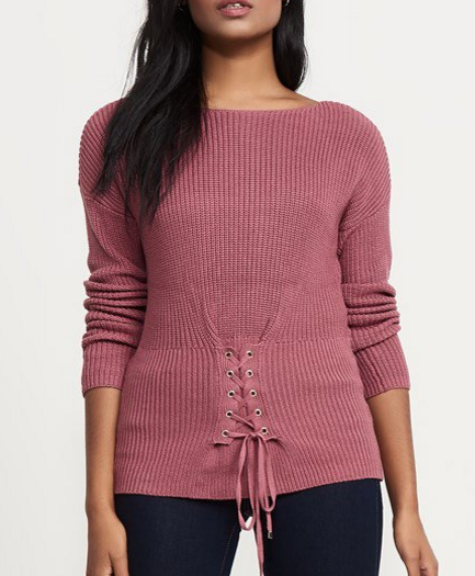 - Knit Corset Sweater $49.95