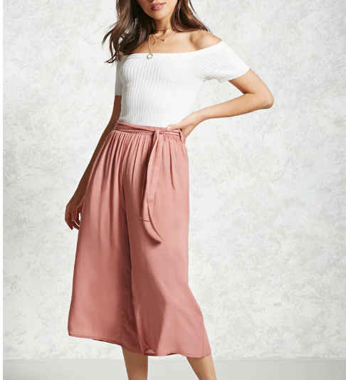 - Semi Sheer Culottes $22.90