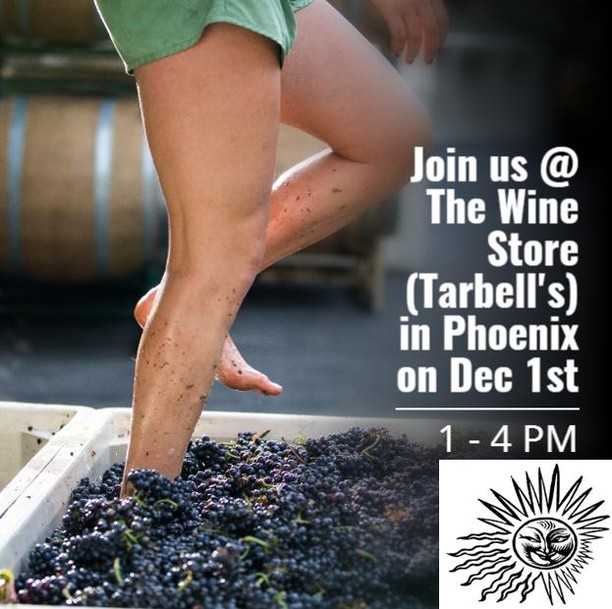 CALLING ALL OF OUR #PHOENIX FANS!! Come join us at The Wine Store at @Tarbell's for a magical night to remember! We are pulling some of our favorite Failla & Day Zinfandel Wines for your enjoyment!! No need to buy tickets ahead of time, just swing on by sometime between 1:00 PM - 4:00 PM and enjoy some wines with us!  Foot Treader: @jillkd Photo Credit: @bonafideproductions . . . . . . . . . . . . . . #tarbells #thewinestore #pheonixAZ #faillawines #dayzinfandel #naturalwinemaking #ehrenjordan #coolclimatewines #pinotnoir #chardonnay #zinfandel #elegantwines #failla #faillawine #lovewhatyoudo #farming #wine #winetasting #wineevents