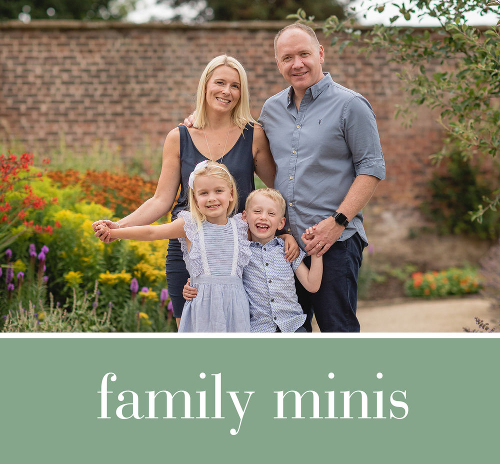 Spring & Summer 2019 - For a variety of family photos25 minute mini session packageSaturday morning timeslots** 2019 dates to be announced**