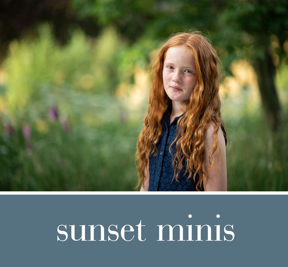 Spring 2019 - For child portraits at sunset15 minute mini session packageLate afternoon timeslots** 2019 dates to be announced**