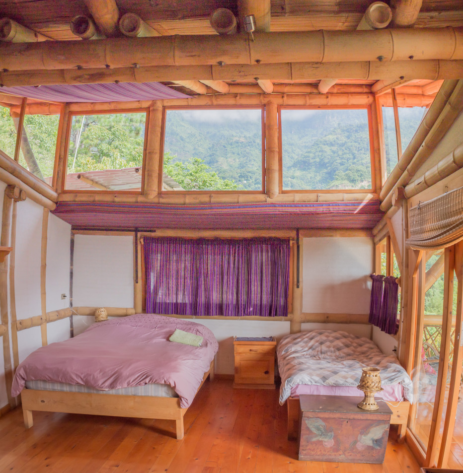 Guest Room, Bambu Guest House, lodging for Permaculture for the Herbalist's Path course, September 23, 2019 - October 18, 2019 Lake Atitlan, Guatemala