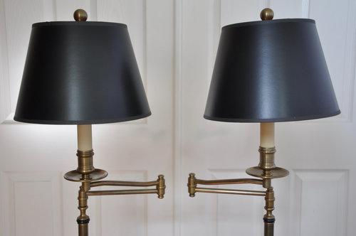 4de13891b666e Pair of Chapman Brass Cantilevered Floor Lamps — Dorsey Antiques