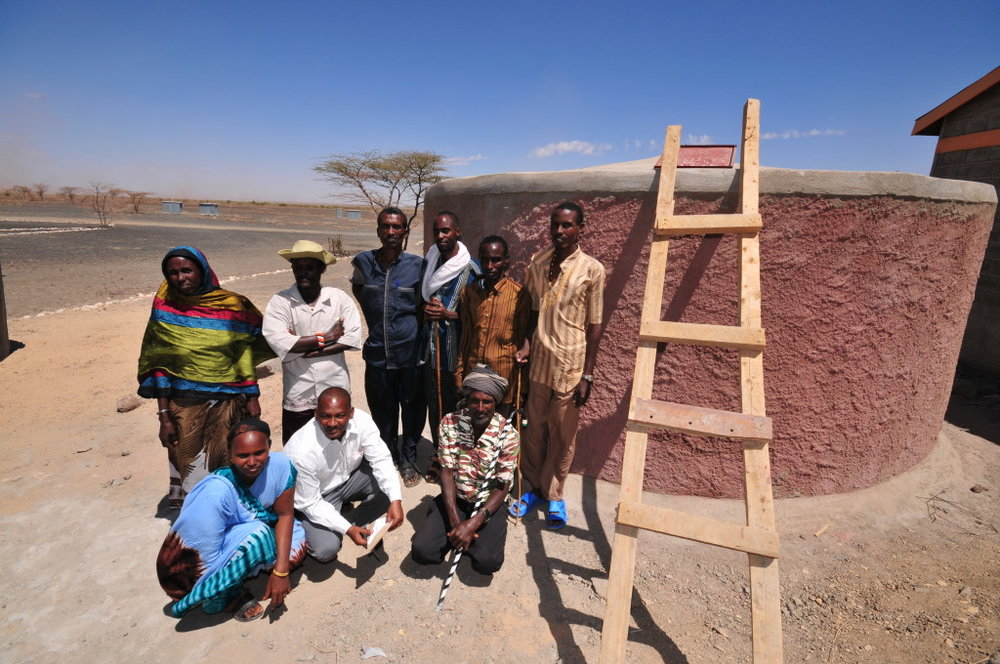 Rainwater Catchment Tank Built in Kenya, 2008
