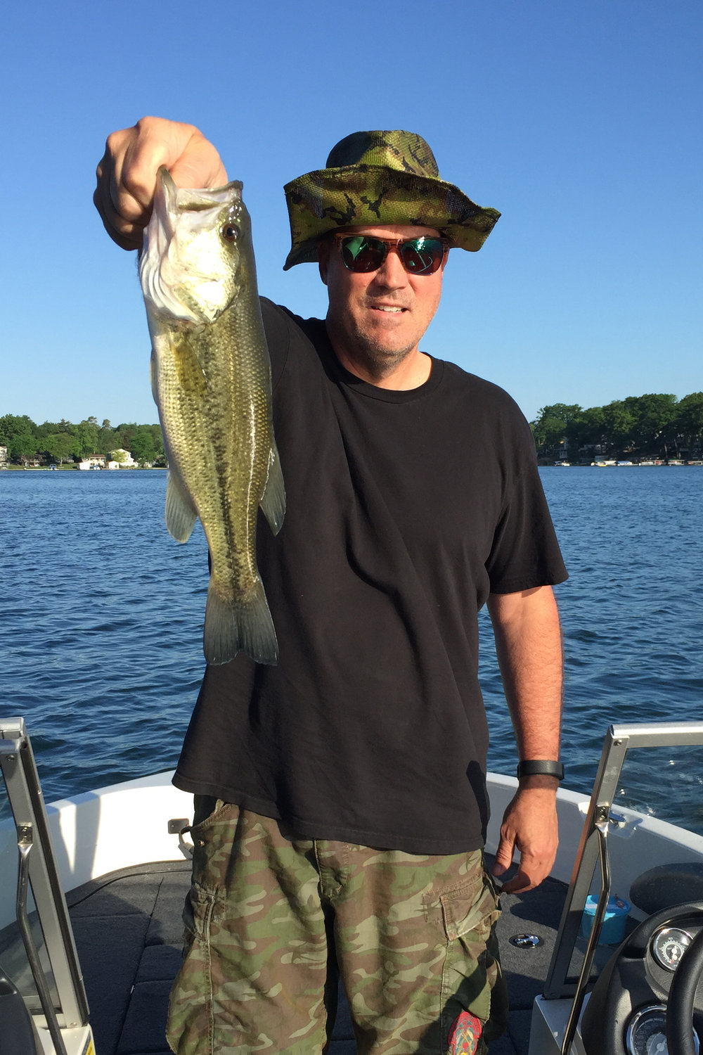 Mick Braman on Maple Island Road caught this bass in May