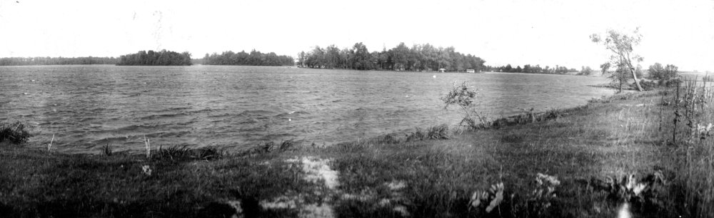 The islands of Magician Lake, photographed from the SW corner circa 1900