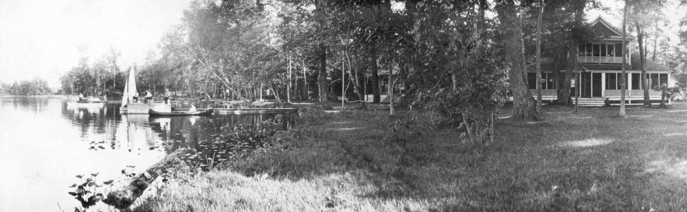 The Gardiner Cottage on Maple Island, photographed circa 1910