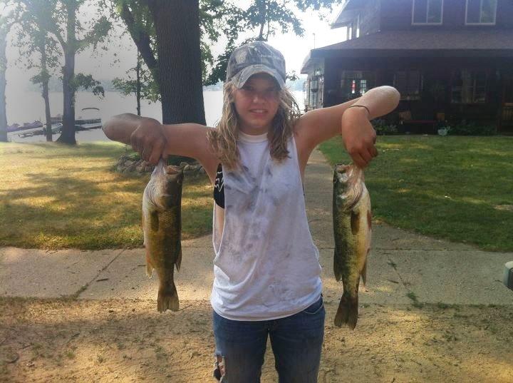 Heather Reiter Bass Fishing on Magician Lake 2012.jpg