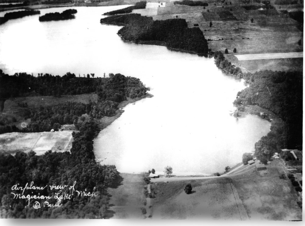 The eastern end of Magician Lake, photographed in 1903