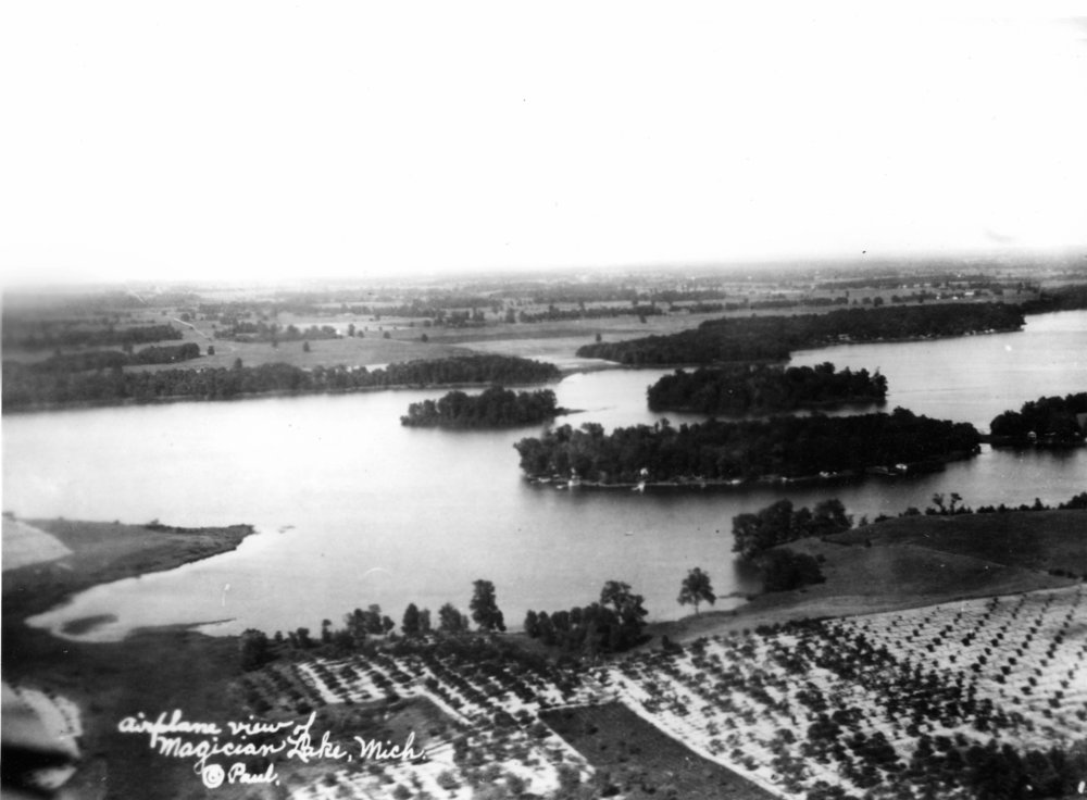 The islands of Magician Lake, photographed in 1903