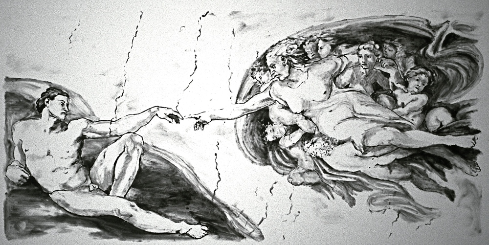 Creation of Man (after Michelangelo)
