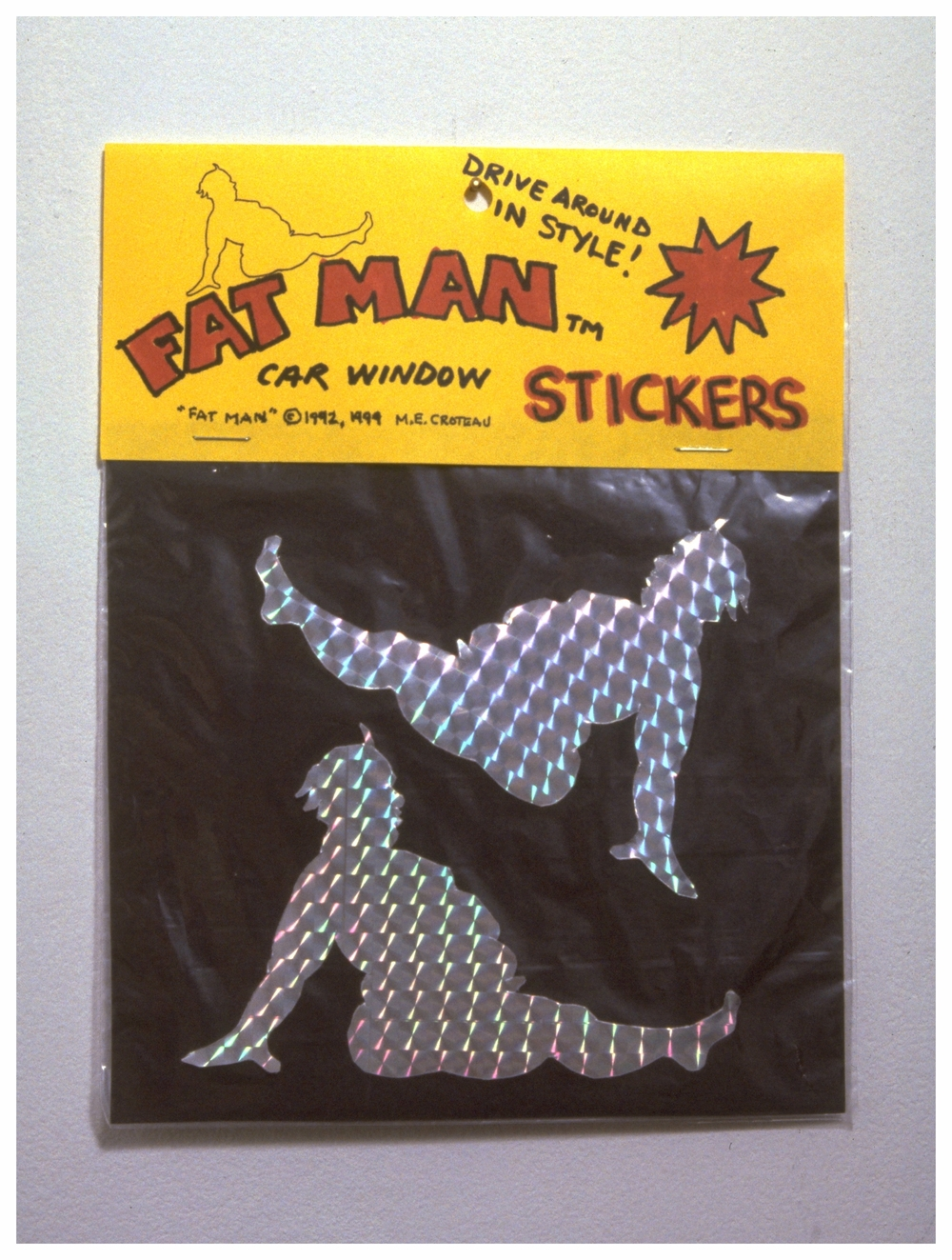 Fat Man Stickers. Fat Man ©1991