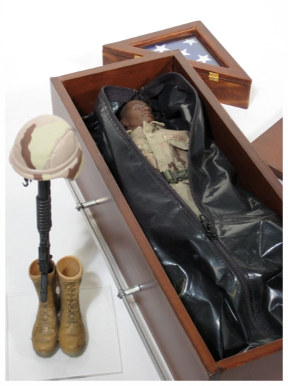 "Reality GI Joe, coffin: 3""x4""x12"""