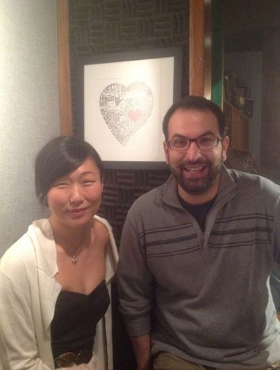 Happy Valentine's Day!     Another morning in the studio over at Lotas Productions recording voice over w/ the lovely Sorab Wadia.