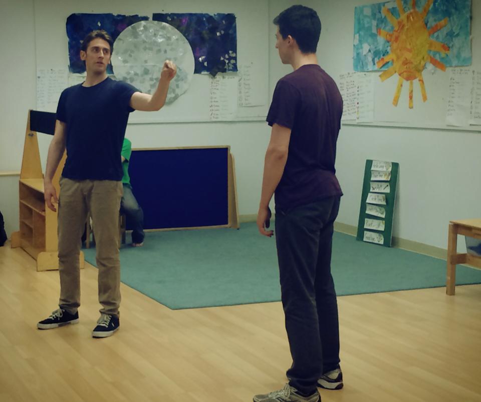 Alex J. Gould & Alex Mandell in rehearsal