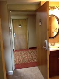 Don't prop your hotel room door open.