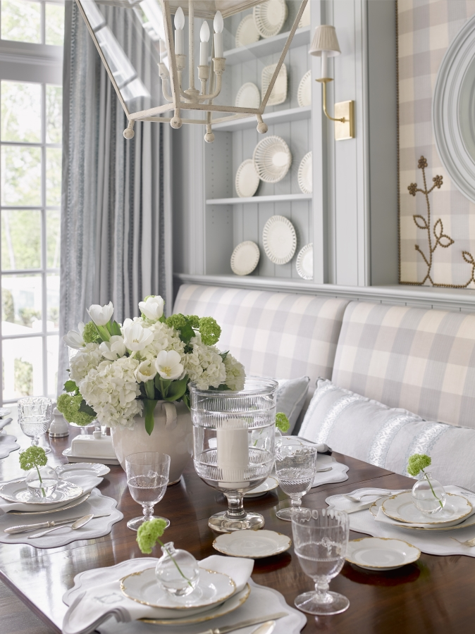 The Breakfast Room by Lauren DeLoach Interiors photo by David Christensen