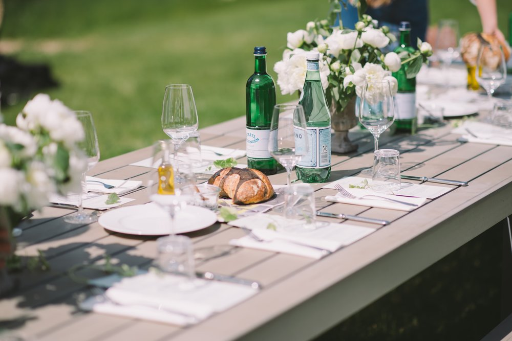 The simple beginnings of an elegant brunch