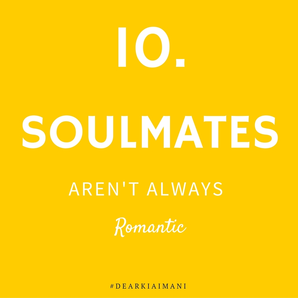 #DearKiaImani , soulmates aren't always romantic. If you don't leave Hampton with anything else, you'll definitely leave with a couple soulmates.