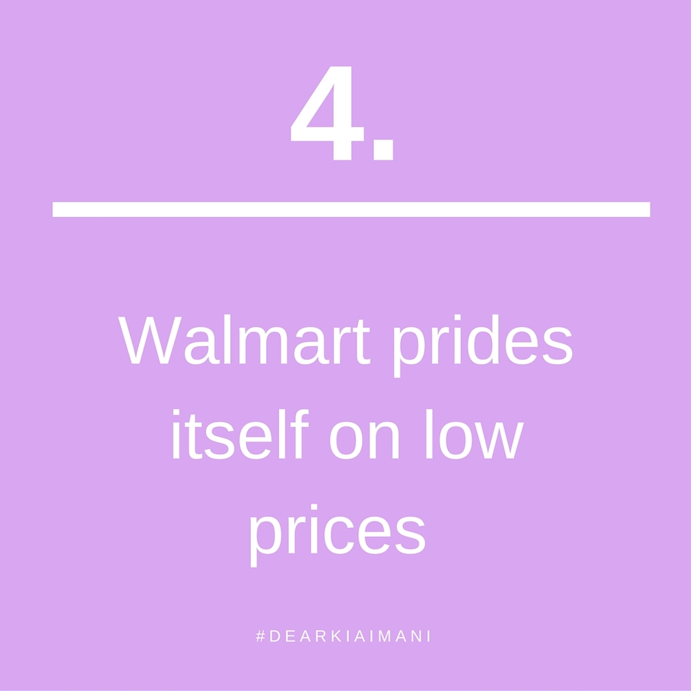 #DearKiaImani , Walmart prides itself on providing low prices, NOT customer service. So I don't know why I get upset when I go in Walmart and there are only 3 registers open...every time as if I expected something different from Walmart. Lesson: Stop expecting new outcomes from the same situations.