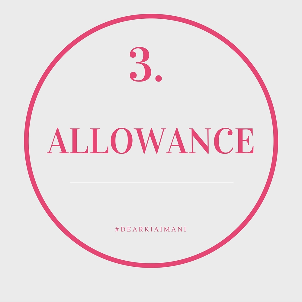 #DearKiaImani, Allowance . This allowance has nothing to do with money but has everything to do with being human. Allow yourself to feel every feeling that comes about. Allow yourself to be angry, sad, happy, frustrated, excited. Allow it. And for the sake of God, allow yourself to cry if need be. It is not a sign of weakness!