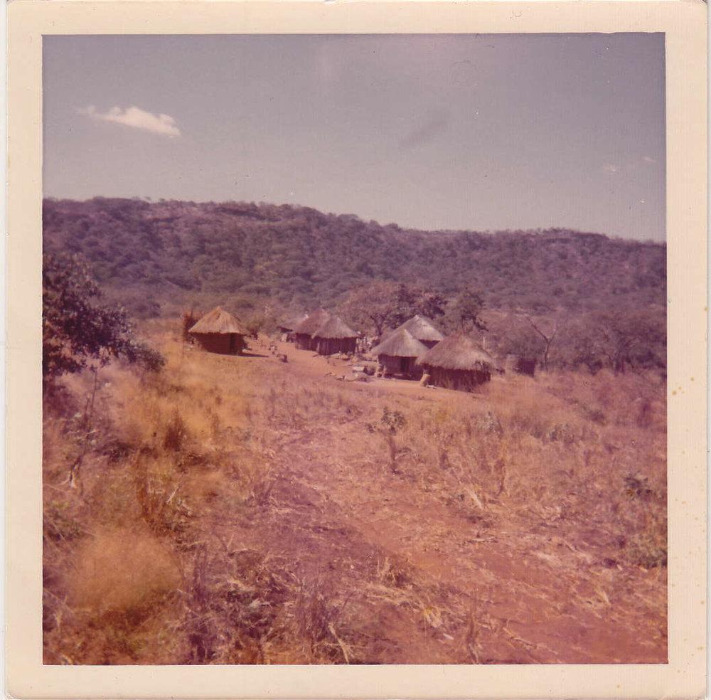 Village life. KisClean's founder Phillip Nzuwah's childhood home.